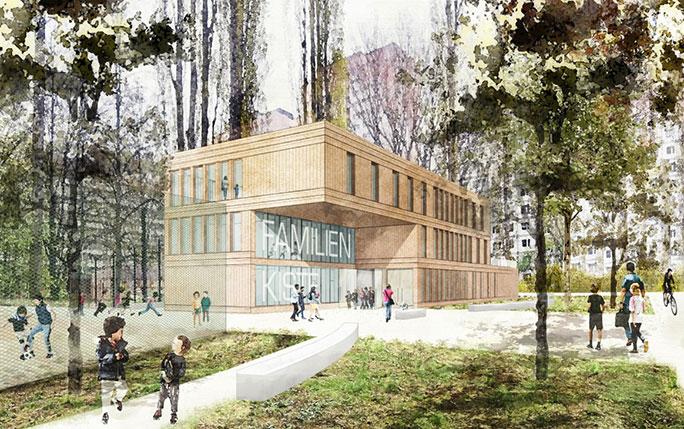 """TOPOS erzielt Anerkennung beim nichtoffenen Realisierungswettbewerb """"Haus für Bildung und Familie"""" am Ostbahnhof in Berlin"""